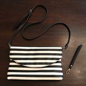 NWOT Sole Society Black/White Stripe Purse